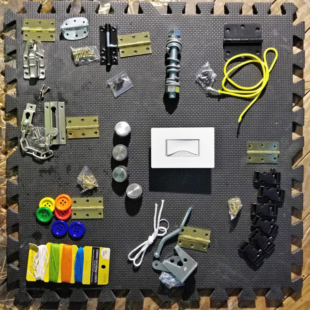 Picture of all the Parts necessary to build toolbox