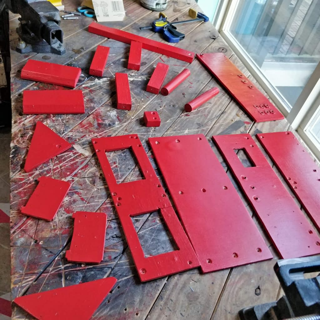 ToolBox Painted Red 1st coat
