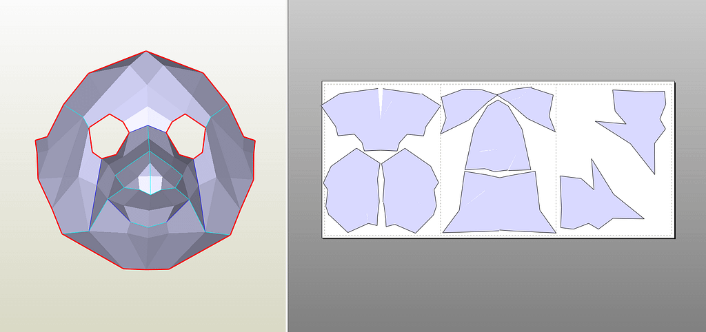 Plague Doctor Mask Flat Patterns