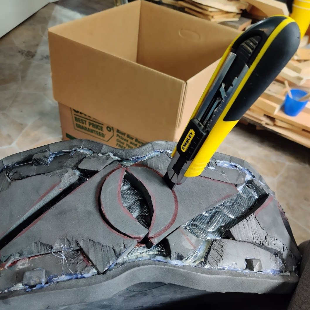 Cutting out the Tire Spike recesses'