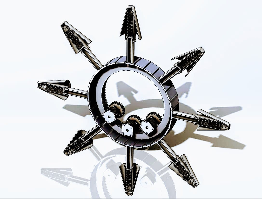 Retractable spring design for 3D printing