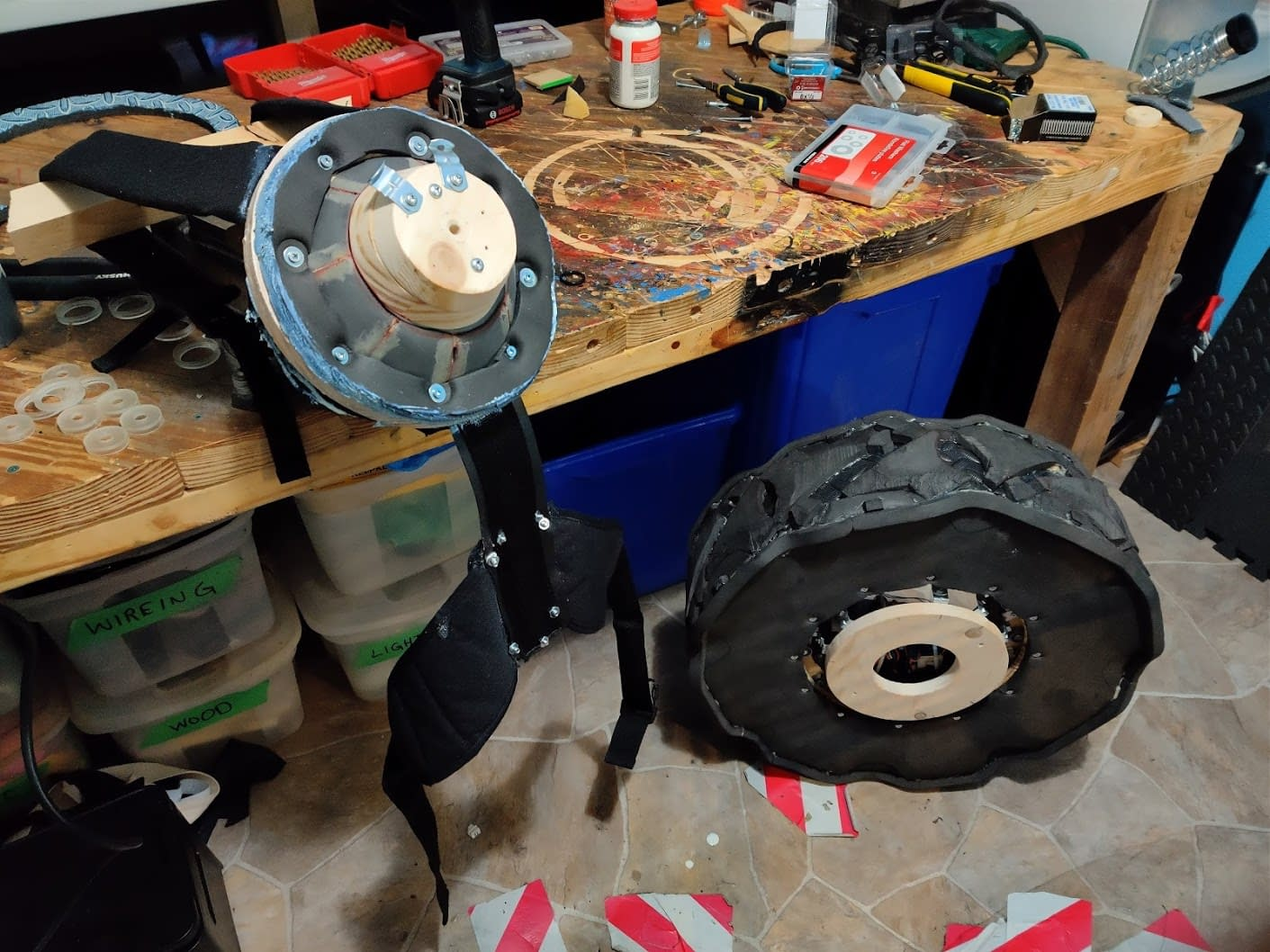 Backpack and tire mount