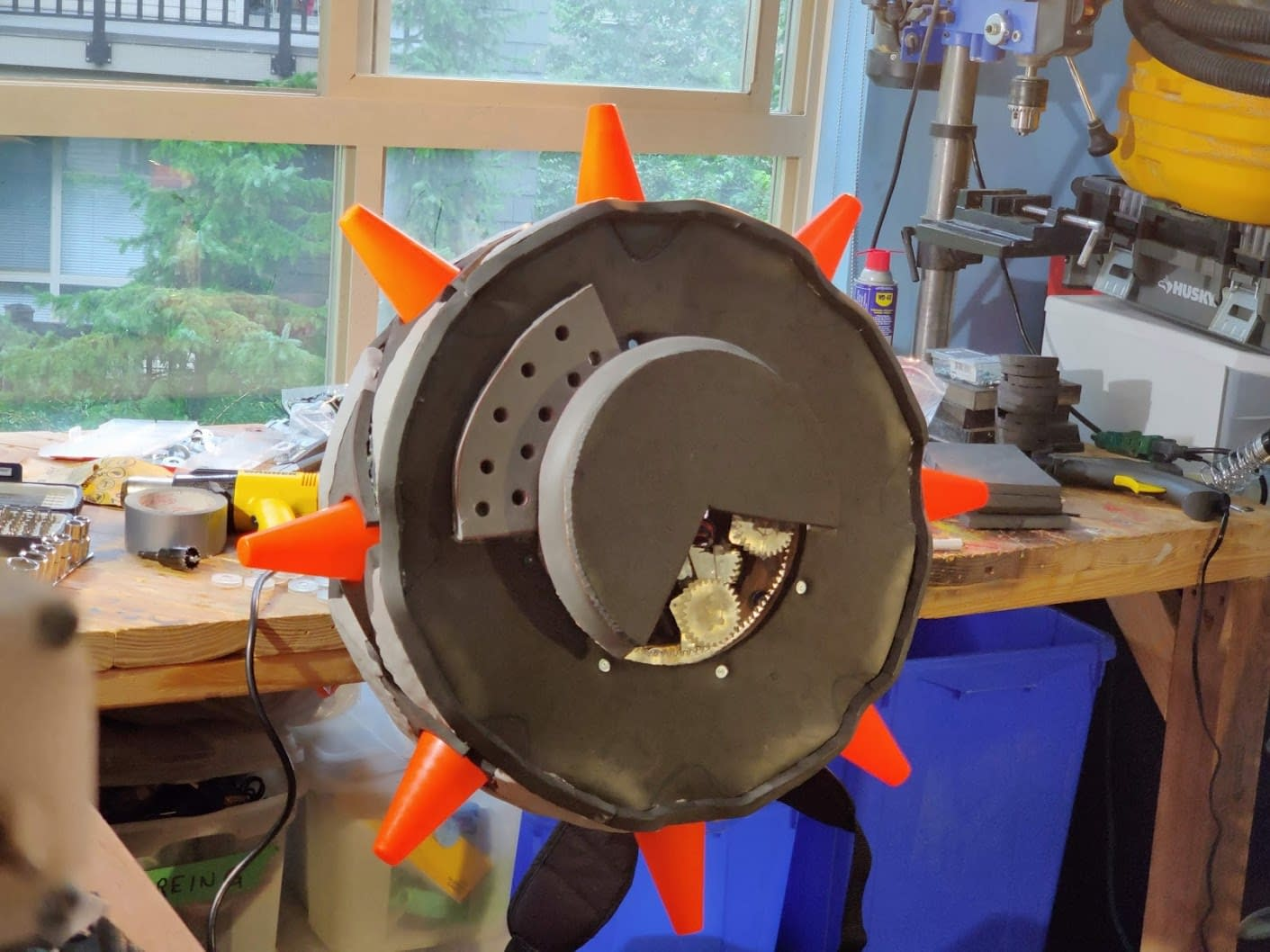JunkRat Tire with Spikes installed for fit testing