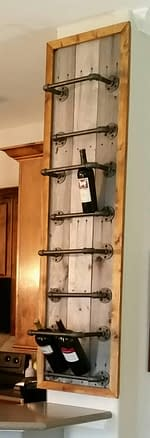 blog for DIY wine rack