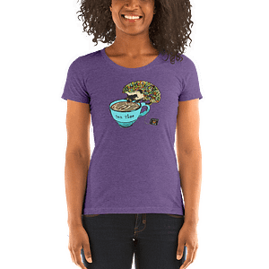 Rainbows, Hedgehogs & Tea OH MY – Ladies' short sleeve t-shirt