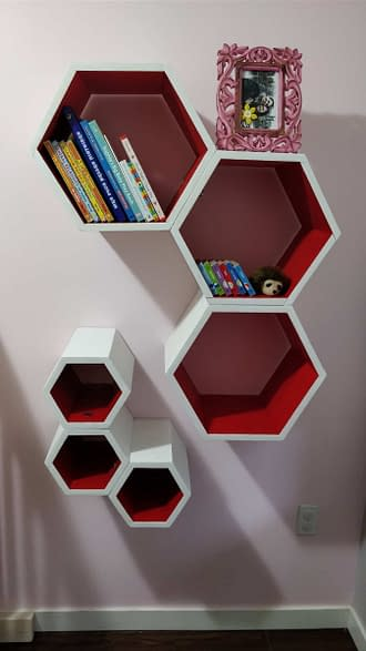 Completed Hexagon Shelf