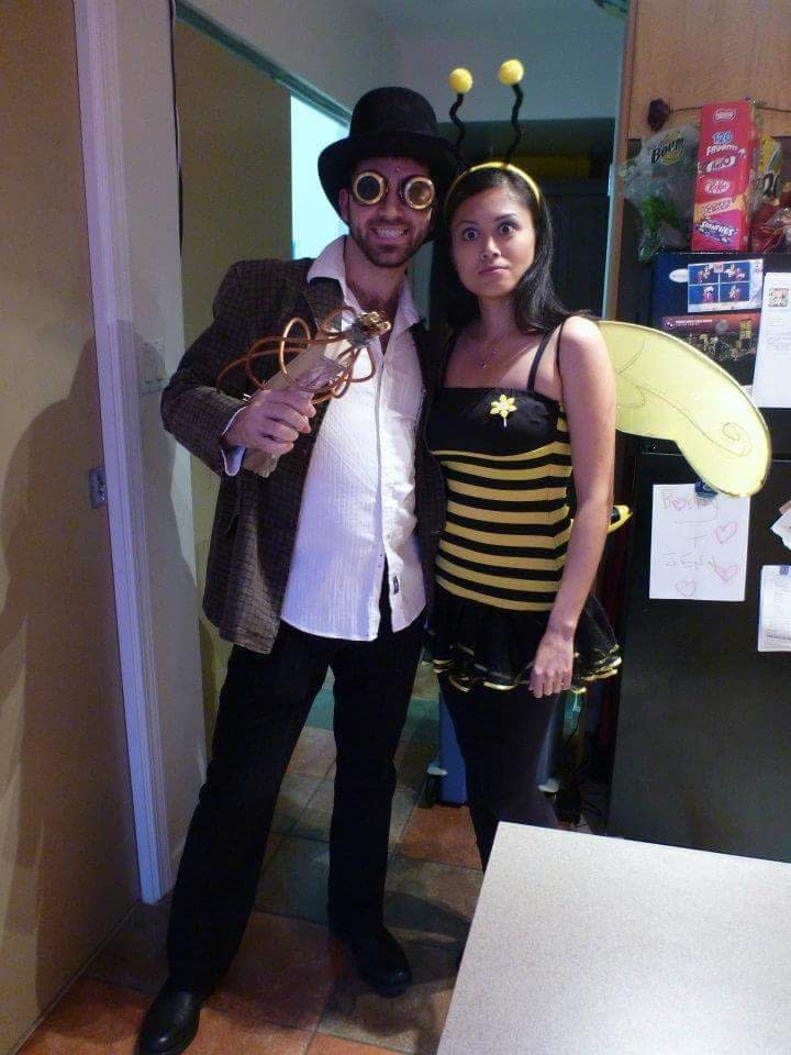 My Steampunk Doctor and lovely wife bee with her big eyes